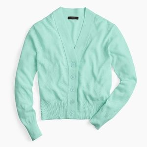 NWT J. Crew Cropped Lightweight Cardigan Sweater